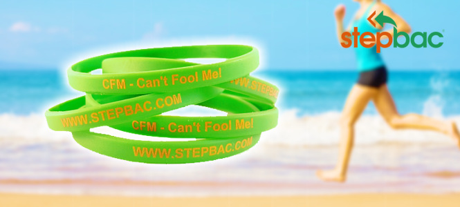 Order Stepbac® action wristband.