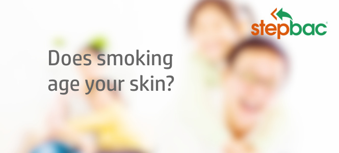 How does smoking age your skin?